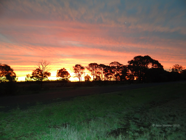 Sunset at Glenmorgan