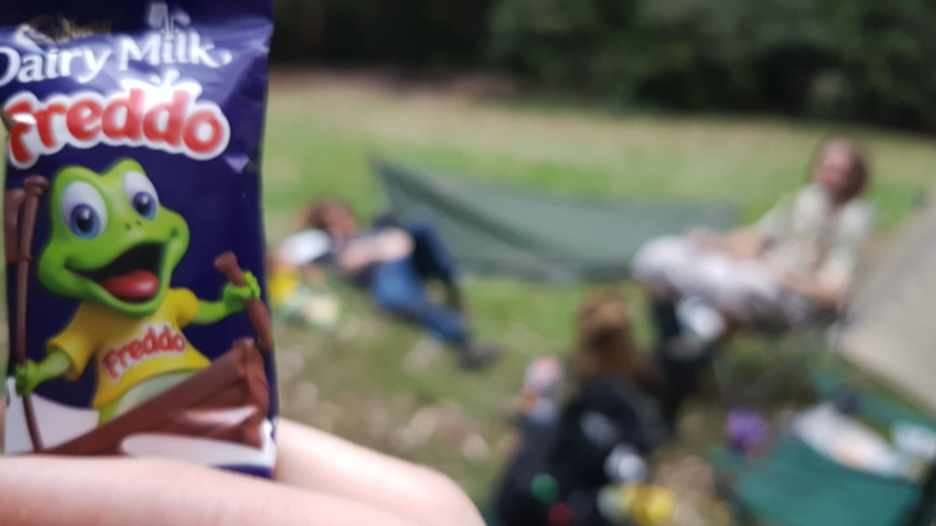 Freddos never go astray on frogging trips.