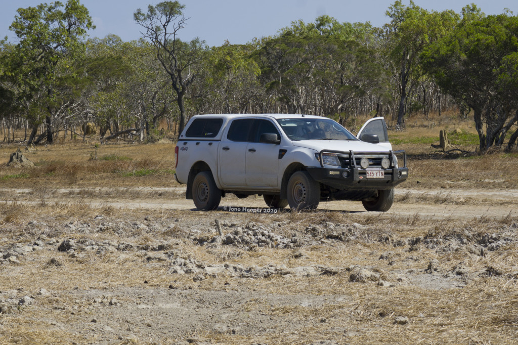The machine at Cape Melville, along a much nicer section of track.